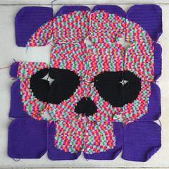 IMG_2071 (crochetbug13) Tags: crochet crocheted crocheting crochetyarnbomb dayofthedeadcrochet dayofthedeadmural crochetmural