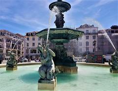 Lisbon Angels (moonjazz) Tags: lisbon portugal fountain art city beauty travel color photography angels water public history mermaids women europe