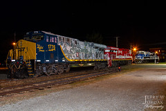 Salute to Service (jwjordak) Tags: es44ac night 1776 police csxt firstresponders veterans museum csxtransportation train northeast pennsylvania unitedstatesofamerica
