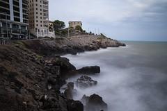 Torre del rey👑 (Manupastor43) Tags: longexposure blue sea water canon landscape eos spain rocks winter sunset sky white nature outside national wave 2470l nd1000