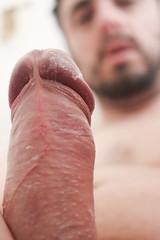 IMG_2178 (kinkhumiliation) Tags: erection cock penis stiff dickhead smell cheese precum cockhead smegma juice solo male uncut