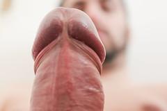 IMG_2168 (kinkhumiliation) Tags: erection cock penis stiff dickhead smell cheese precum male solo cockhead juice