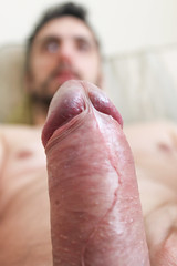 IMG_1910 (kinkhumiliation) Tags: erection cock penis stiff dickhead smell cheese precum solo male dick erect hardcock stiffy uncut