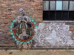 "Alley Art - ""Arborealis"" by Jessica Wolf (J Wells S) Tags: alleyart wallart mural streetart arborealis jessicawolf bricks urban urbanart findlaymarket overtherhine otr cincinnati ohio blinkcincinnati"