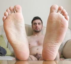 28 (kinkhumiliation) Tags: barefeet soles toes malefeet nude naked cheesy feet male solo cock barefoot bigfeet