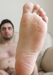 25 (kinkhumiliation) Tags: barefeet soles toes malefeet nude naked cheesy feet solo male foot barefoot smell bigfoot