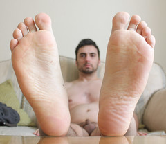 22 (kinkhumiliation) Tags: barefeet soles toes malefeet nude naked cheesy feet male solo smell