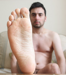 7 (kinkhumiliation) Tags: barefeet soles toes malefeet nude naked cheesy feet male solo foot sole barefoot
