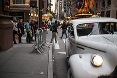 Rolls Royce (Nun Nicer Artist) Tags: car rollsroyce vintage city 35mm travel manhattan citylife october newyork nunnicer streetphotography 35mmstreetphotography people