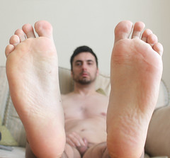 4 (kinkhumiliation) Tags: barefeet soles toes malefeet nude naked cheesy feet male solo barefoot