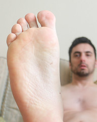 3 (kinkhumiliation) Tags: barefeet soles toes malefeet nude naked cheesy feet male solo sole barefoot