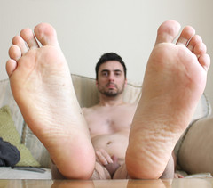1 (kinkhumiliation) Tags: barefeet soles toes malefeet nude naked cheesy feet male solo