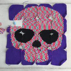 IMG_2070 (crochetbug13) Tags: crochet crocheted crocheting crochetyarnbomb dayofthedeadcrochet dayofthedeadmural crochetmural