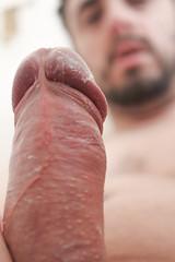 IMG_2179 (kinkhumiliation) Tags: erection cock penis stiff dickhead smell cheese precum solo male dick cockhead erect juice uncut