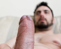 IMG_1902 (kinkhumiliation) Tags: erection cock penis stiff dickhead smell cheese precum solo male uncut dick naked nude erect foreskin
