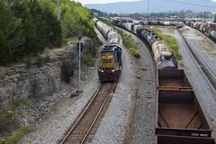 Southern Style at NE Boyce (travisnewman100) Tags: csx emd gp382 train railroad freight manifest local a708 rr yn3 wa subdivision atlanta division boyce siding