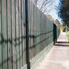 Green fence (Matthew Paul Argall) Tags: ensignfulvue 120film 120 mediumformat ektar100 kodakektar100 100isofilm boxcamera fence