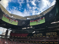 Open Roof Game Day (4 Pete Seek) Tags: mercedesbenzstadium atlantaunited atlantaunitedstadium stadium atlantafalcons atlantafalconsstadium atlantastadium soccerstadium footballstadium openroof iphone iphone7plus iphonephotography