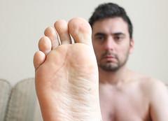 12 (kinkhumiliation) Tags: barefeet soles toes malefeet nude naked cheesy feet male solo sole toejam bigfeet