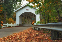 One Autumn Day In Scio, Oregon (Ian Sane) Tags: ian sane images oneautumndayinsciooregon scio oregon linn county hannah covered bridge thomas creek autumn leaves colors architecture highway 226 camp morrison drive 1936 canon eos 5ds r camera ef1740mm f4l usm lens