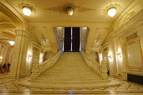 Grand staircase, Palace of Parliament, Bucharest