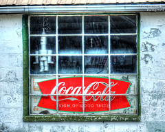 Old Coco-Cola Sign in a Window - Allons, Tennessee (J.L. Ramsaur Photography) Tags: jlrphotography nikond5000 nikon d5000 photography photo allonstn middletennessee overtoncounty tennessee 2012 engineerswithcameras cumberlandplateau photographyforgod thesouth southernphotography screamofthephotographer ibeauty jlramsaurphotography photograph pic allons tennesseephotographer allonstennessee tennesseehdr hdr worldhdr hdraddicted bracketed photomatix hdrphotomatix hdrvillage hdrworlds hdrimaging hdrrighthererightnow abandoned neglected abandonedsign abandonedplacesandthings abandonedneglectedweatheredorrusty sign signage it'sasign signssigns iloveoldsigns oldsignage vintagesign retrosign oldsign vintagesignage retrosignage faded fadedsignage fadedsign iseeasign signcity cocacola cokesign cocacolasign coke cocacolabottlingworks cocacolascript ruralsouth rural ruralamerica ruraltennessee ruralview