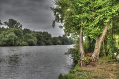 Main River near Schweinfurt (Runemaker) Tags: hdr river germany bayern deutschland bavaria main fluss schweinfurt trees sky nature water clouds forest landscape woods wasser natur himmel landschaft wald bäume nikon wolken d750