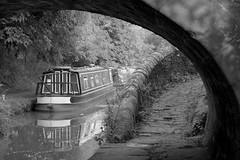 MacCanal (Tony Tooth) Tags: nikon d600 nikkor 105mm canal bridge narrowboat boat turnoverbridge macclesfieldcanal kerridge bollington cheshire bw blackandwhite monochrome england