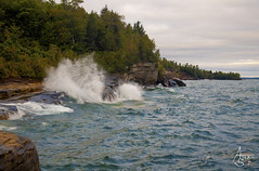 Angry Lake Superior Surf (ats8110) Tags: angrylakesuperiorsurf michigan d850 nikon shoreline angry picture caves paradisepoint
