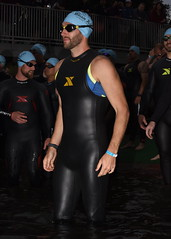 Xterra Farmer John (Chris Hunkeler) Tags: male3034 young male earlythirties beard xterra sleeveless wetsuit triathlon waterentry
