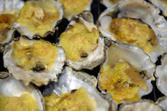 DSC_9254 (photographer695) Tags: brandy hole oysters essex emeralds from billingsgate fish market docklands london rockefeller consists halfshell that have been topped with lime cheddar cheese corn flower then baked or grilled oven