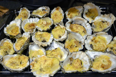 DSC_9253 (photographer695) Tags: brandy hole oysters essex emeralds from billingsgate fish market docklands london rockefeller consists halfshell that have been topped with lime cheddar cheese corn flower then baked or grilled oven