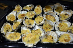 DSC_9252 (photographer695) Tags: brandy hole oysters essex emeralds from billingsgate fish market docklands london rockefeller consists halfshell that have been topped with lime cheddar cheese corn flower then baked or grilled oven