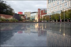 Reflections of One (Mike McNiven) Tags: reflection liverpool merseyside liverpoolone waterfeature polishedstone stone one