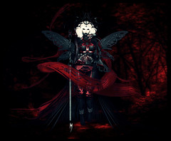 Elva, The Dark Fae (✼ Dess ✼) Tags: secondlife virtual dark fae faerie fairy costume halloween
