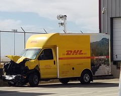 Wrecked DHL truck (Caleb8155 Photography) Tags: dhl