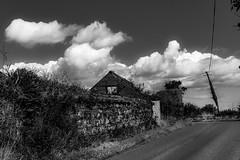 To the place where (Gullivers adventures) Tags: lushes discover exploringireland explore flickr monopoly blackandwhite ireland hot two ancient old road country building house abandoned clouds sky nature brickwork bnw blancoynegro black white moody summer love adventure