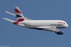 G-XLEK (Baz Aviation Photo's) Tags: gxlek airbus a380841 british airways heathrow runway 09r ba213 boston bos baw ba egll lhr