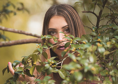 looking through the tree (Ronnie Newman Photography) Tags: portrait portraits people photography photos photo photographer girl model tree branch eyes lady woman
