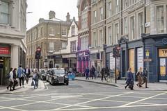 Chancery Lane, London, October 2019 (marktandy) Tags: chancerylane london wc2 october 2019 junction highholborn taxi trafficlights pedestrian autumn ls15gga lti tx4