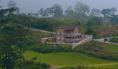 A Home in the Hills (risingthermals) Tags: philippines pilipinas pinas southeast asia tropical country buildings environment setting peaceful calm fog road fence stories windows gate green mountains hills pine trees fresh