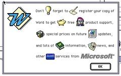 Microsoft Word 5.1a for Mac install splash screen