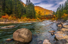 Old Iron Bridge over Tumwater Canyon in Autumn (Cole Chase Photography) Tags: wenatchee leavenworth pacificnorthwest autumn fall october