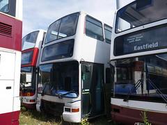 'Dead Presidents' Ex-Barnetts Coach Travel SN51 AXR, Y165 NLK & SN51 AYA (Hullian111) Tags: brian l barnett barnets fairway rider rhodes volvo b7tl dennis trident plaxton president exlothian exlondon sn51axr y165nlk sn51aya sn51 axr aya y165 nlk lothian buses metroline scrap spares abandoned