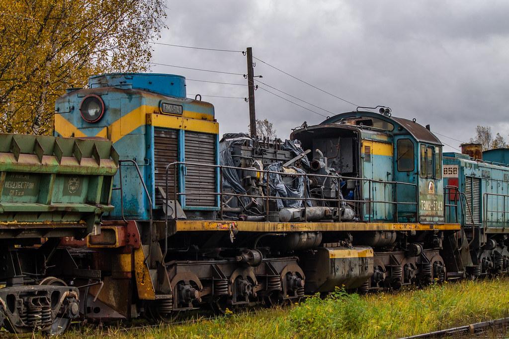 фото: ТЭМ2-5743, станция Невдубстрой