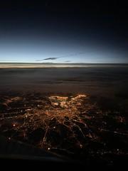 Antwerp, Belgium, 10/2019 (Philipp2705) Tags: antwerp antwerpen night nacht sky city aircraft airplane flugzeug