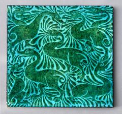 'Fantastic ducks' (robmcrorie) Tags: william de morgan tile ceramic fantastic ducks sands end pottery 1888 1898 arts crafts fulham london