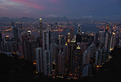 """retrospective: """"hong kong"""" (Jun 2007) (hugo poon - one day in my life) Tags: s5pro reminiscing retrospective 2007 hongkong dusk citynight colours city urban skyscrapers skyline architecture victoriapeak victoriaharbour kowloon ifc bankofchinatower happyplanet asiafavorites"""