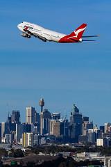 VH-OJU QF B747 34L YSSY-8255 (A u s s i e P o m m) Tags: sydney newsouthwales australia qantas qf boeing b747 syd yssy vhoju sydneyairport
