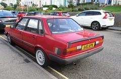 1984 Audi 80 Sport (occama) Tags: a40apn 1984 audi 80 red old german car cornwall uk rare sport